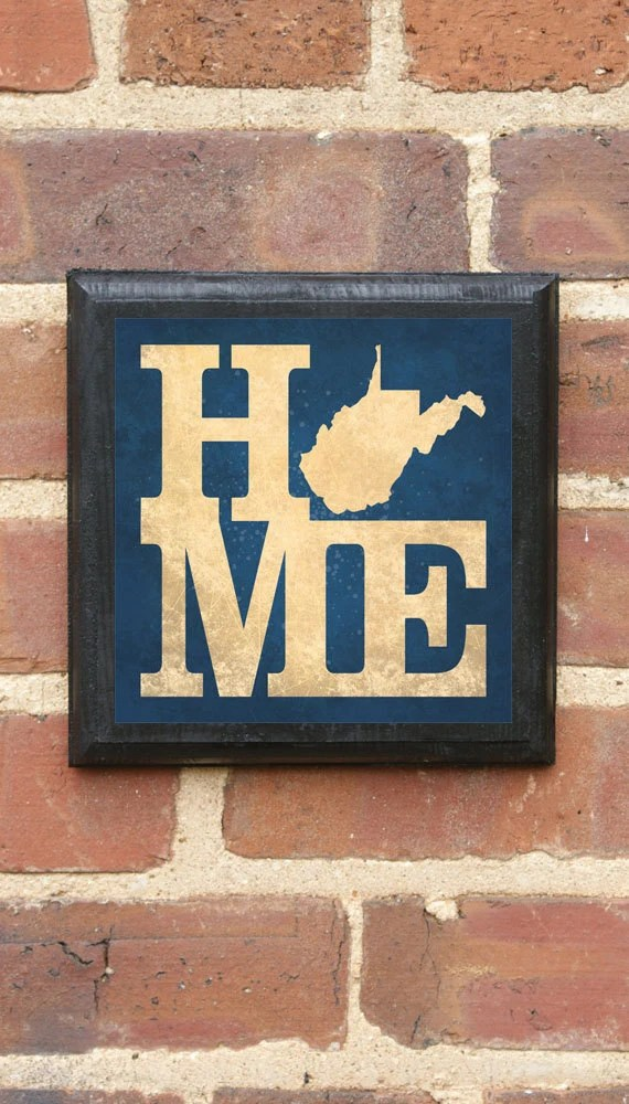 West Virginia Wv Home Wall Art Sign Plaque Gift Present