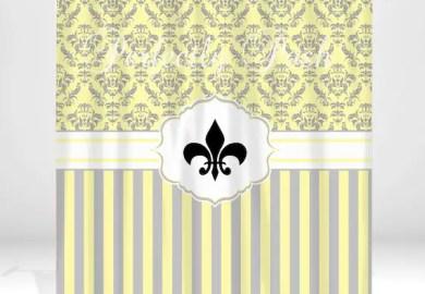 Fleur De Lis Shower Curtain