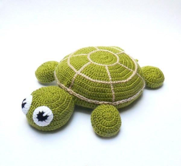 Crochet Pillow Turtle Pouf