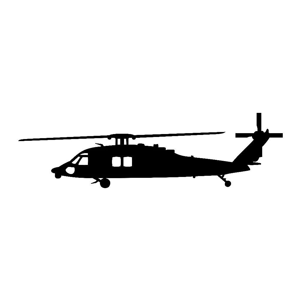 Sikorsky Blackhawk Helicopter Vinyl Decal V1
