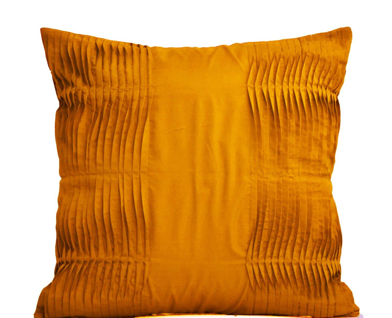 Decorative Mustard Pillow Mustard Cotton Throw Pillow Cover