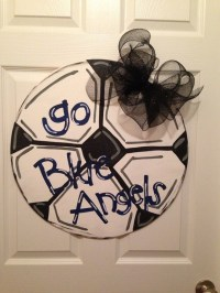 Items similar to Soccer Ball door hanger sport decor