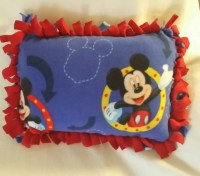 Mickey Mouse Fleece Pillow Tie-Knot by UniqueCustomGift on ...