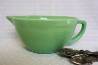 Vintage Fire King Jadeite Batter Bowl Green Mixing Bowl With