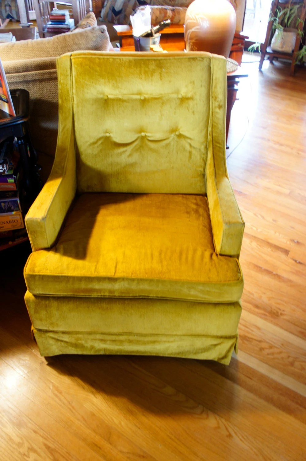 Arms Yellow Accent Chair