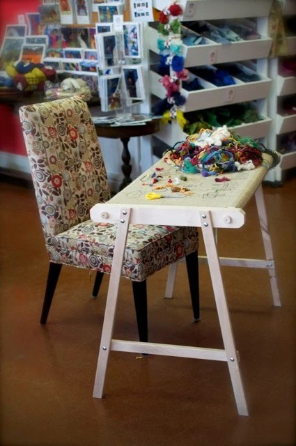 drafting table chair height kids camo solid hardwood cheticamp rug hooking frame from deannefitzstudio on etsy studio