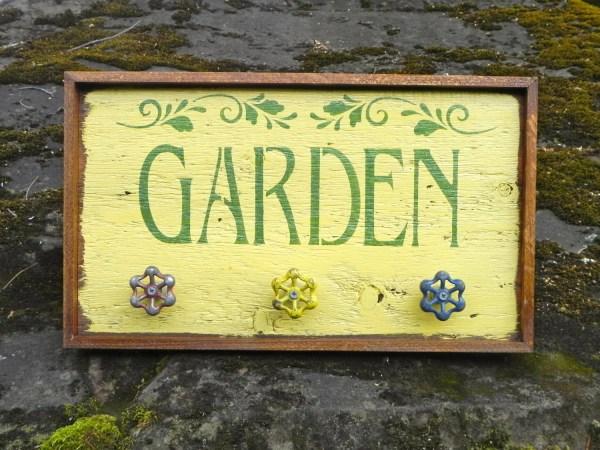garden signs and decor handmade