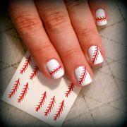 baseball stitch nail design
