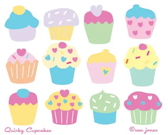 cupcake clip art cute cupcakes