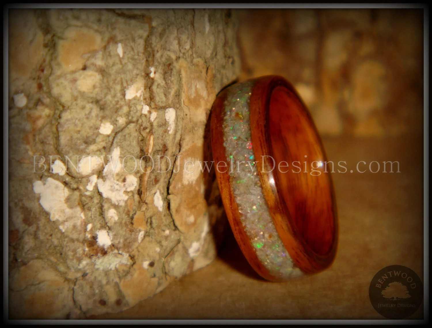 Bentwood Wood Ring Prism Rosewood Ring With