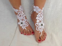 Lace Barefoot Sandals - 28 Items Similar Ivory