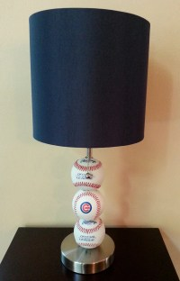 Chicago Cubs Baseball Lamp by ChristyVsCreations on Etsy