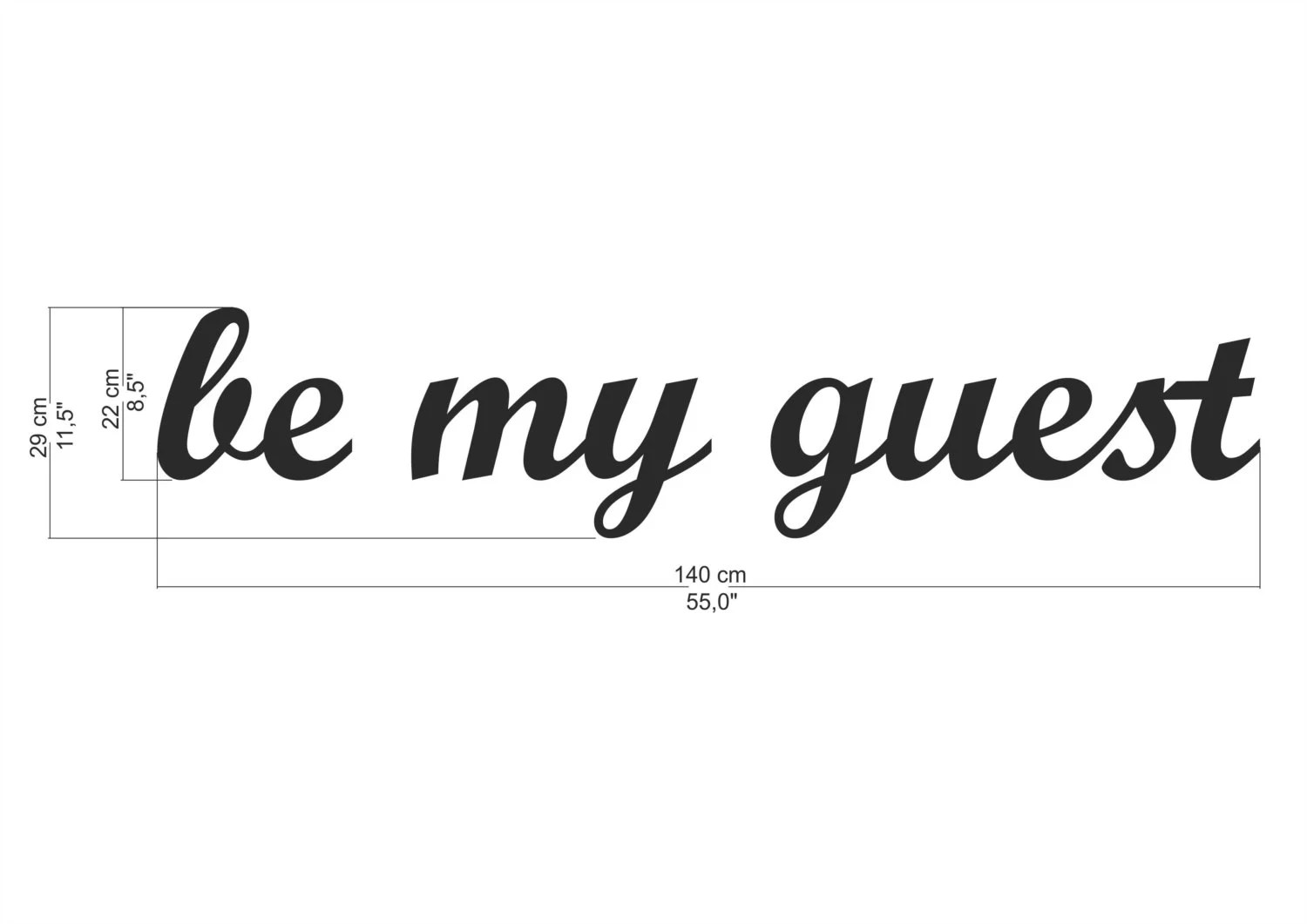 script wooden letter be my guest sign for home kitchen