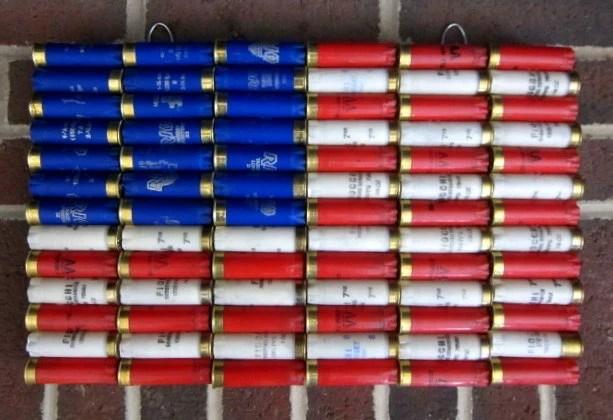 Fall Feather Wood Wallpaper Shotgun Shell American Flag 16 5 X 10 5 Patriotic By