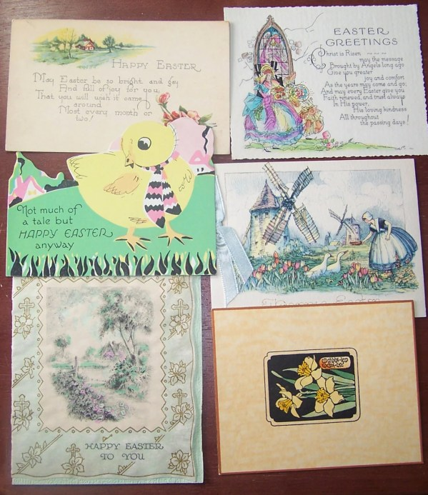 Art Deco Vintage Easter Greeting Card