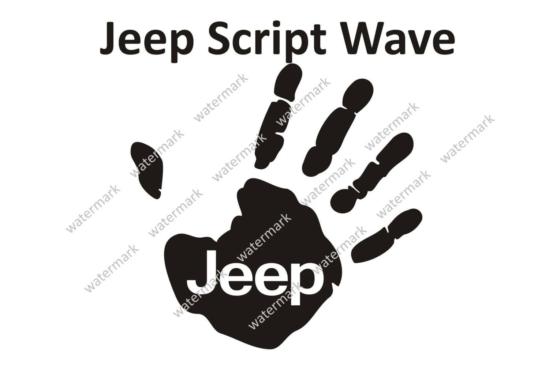Jeep Script Logo Jeep Wave Decal Sticker SMALL by Robnmon