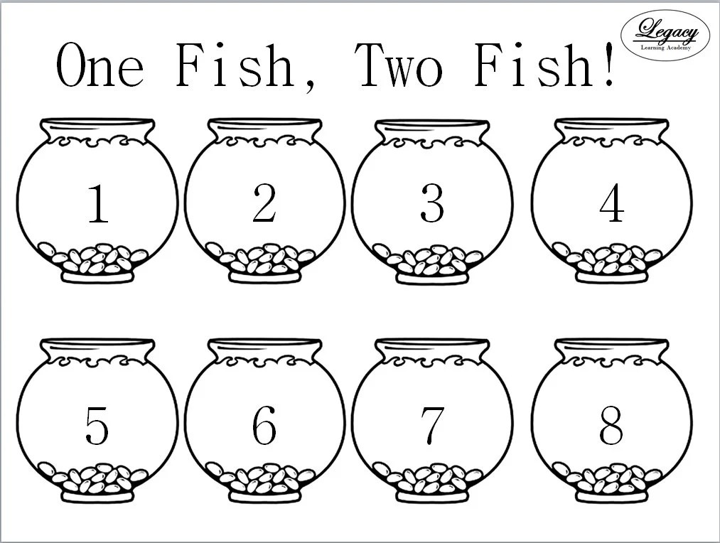 One Fish Two Fish Activty Mat Printable by LegacyLearning