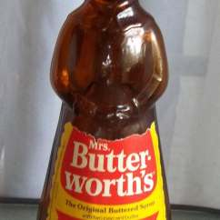 Kitchen Wooden Utensils Island Lighting Lowes Vintage Mrs. Butterworth's Glass Syrup Bottle