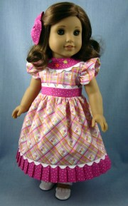 doll clothes pink floral