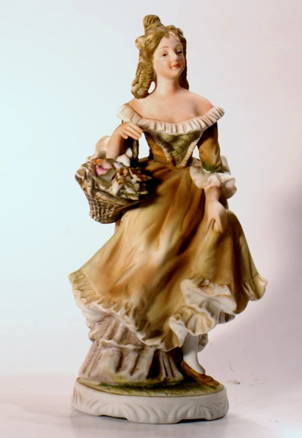 Vintage Figurine Lefton Hand Painted China Matte Finish