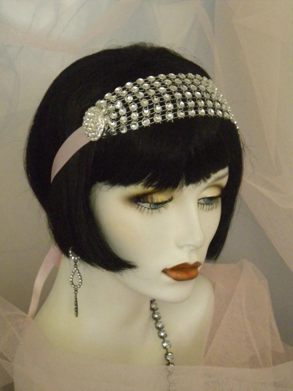 1920s Headpiece Flapper Headband Gatsby Old Hollywood