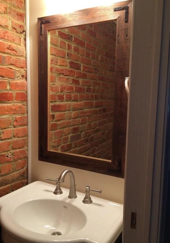 24x36 Reclaimed Wood Bathroom Mirror Rustic by HurdandHoney