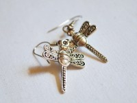 Kitsch jewellery Silver dragonfly earrings Quirky jewellery