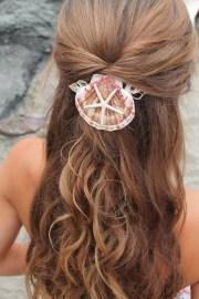 mermaid hair comb starfish