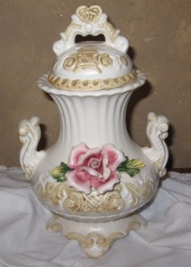 Capodimonte Italian Porcelain Urn Vase Circa 1950'