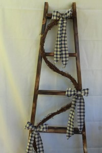 Decorative ladder. Primitive decor. Wall decor.