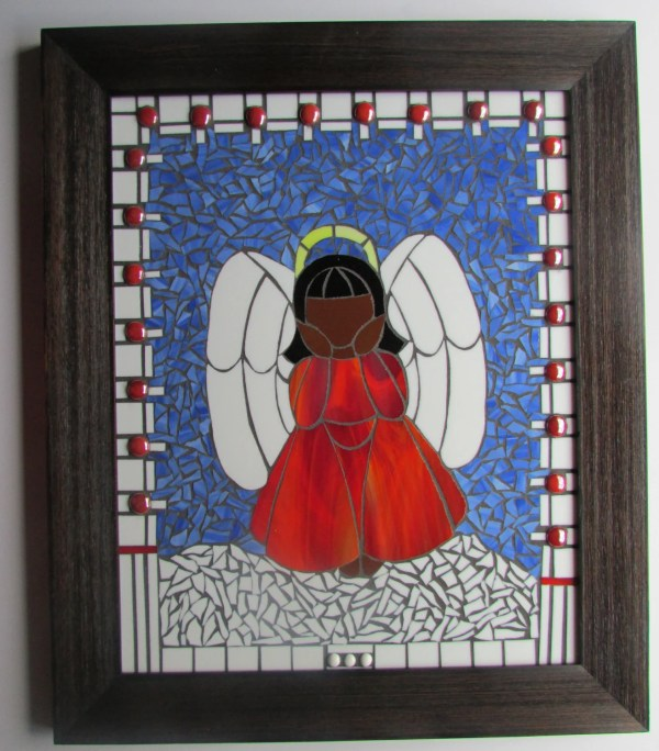 Stained Glass Mosaic African American Angel