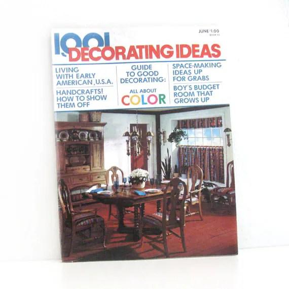 Vintage 1970s Home Decor Magazine 1001 Decorating Ideas