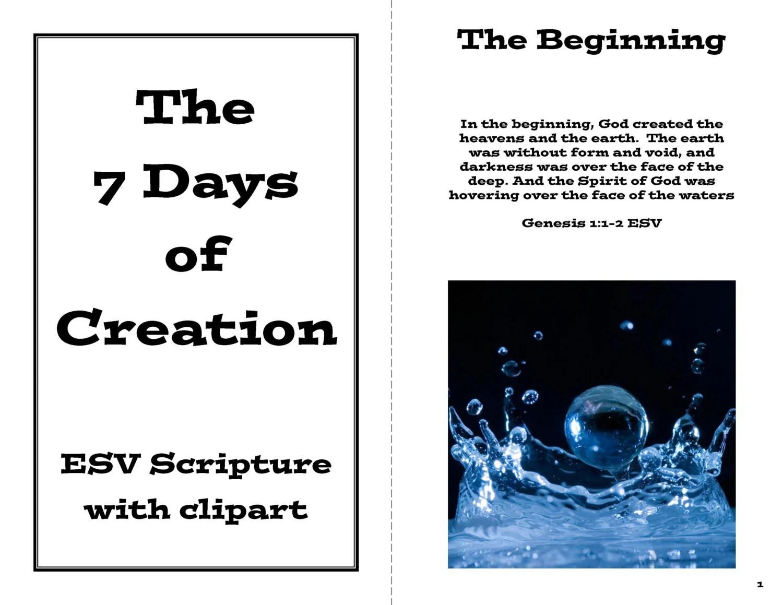 The Creation Story Booklet Genesis 1 Teaching Printable
