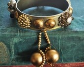 Banglelicious Bracelet  With Swinger Earrings - Vintage Assemblage