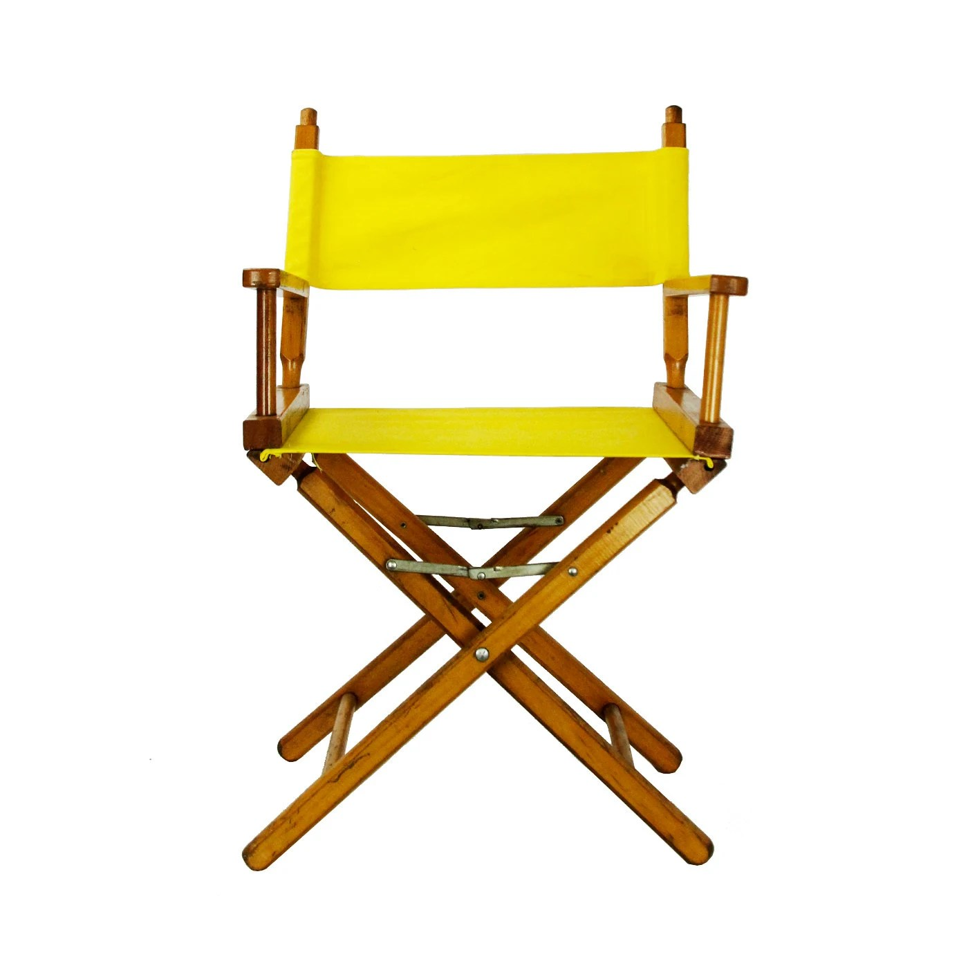 Directors Chair Canvas Vintage Folding Yellow Canvas Director 39s Chair