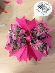 browning camo hair bow mskiddokreations