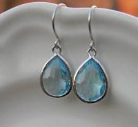 Aquamarine Earrings Dangle Earrings Drop Earrings