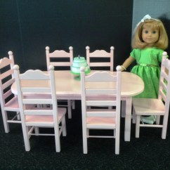 American Doll Chair Patio Repair Fabric Pinkie Donné Table 6 Set 18 In Girl