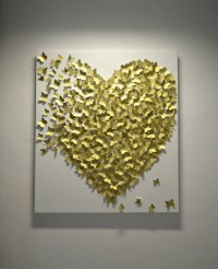 Items similar to 3D Gold Butterfly Art