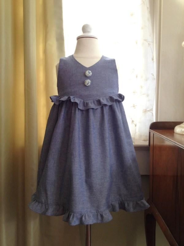 Pretty Pansy Easter Dress Pattern Pdf. Sewing