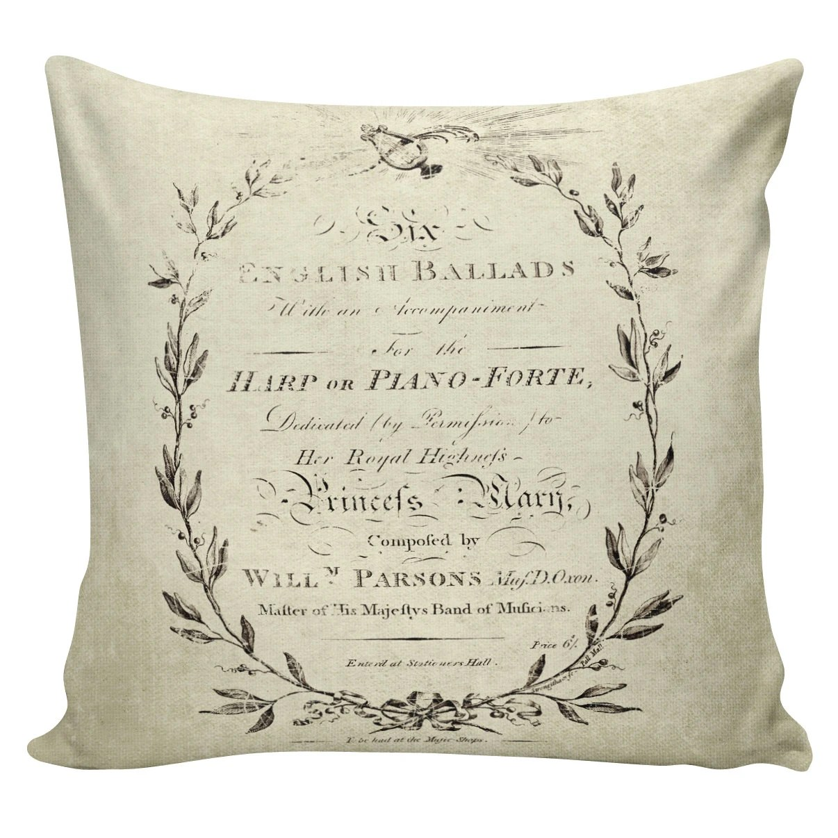 Throw Pillow Burlap Pillow French Decor French Country