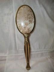 vintage gold tone vanity metal