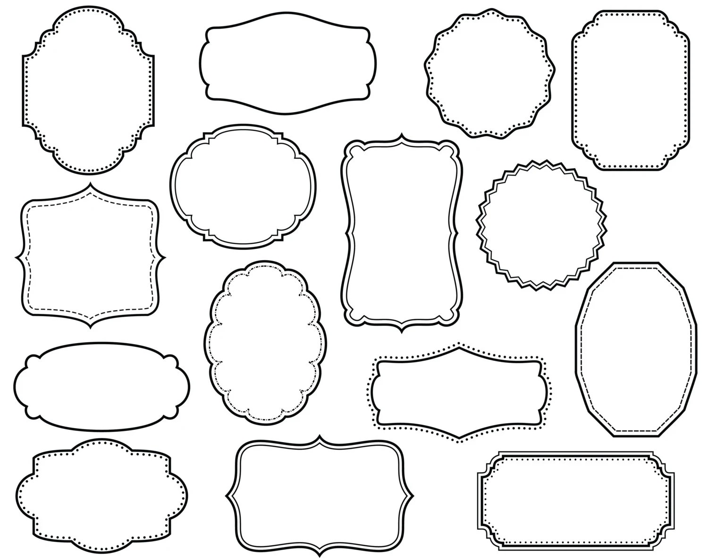 CLIP ART: 15 Digital Scrapbook Frames // Clipart // Decorative