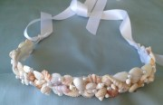 seashell wedding hair crown