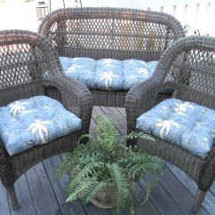 Cushions For Wicker Chairs Light Blue Spandex Chair Covers Tommy Bahama Nautical Tropical