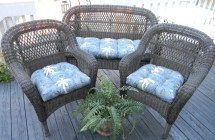Blue Tommy Bahama Nautical Tropical Cushions Wicker