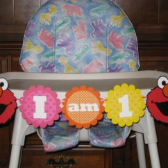 Elmo Table And Chairs Umbrella Holder For Folding Chair Sesame Street 1st Birthday High Banner I Am 1