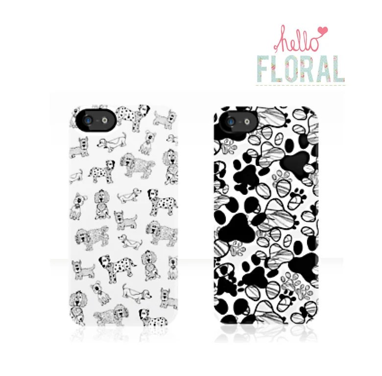 Dog paw print girly iPhone 4/4S 5 5c 5s Samsung by hellofloral