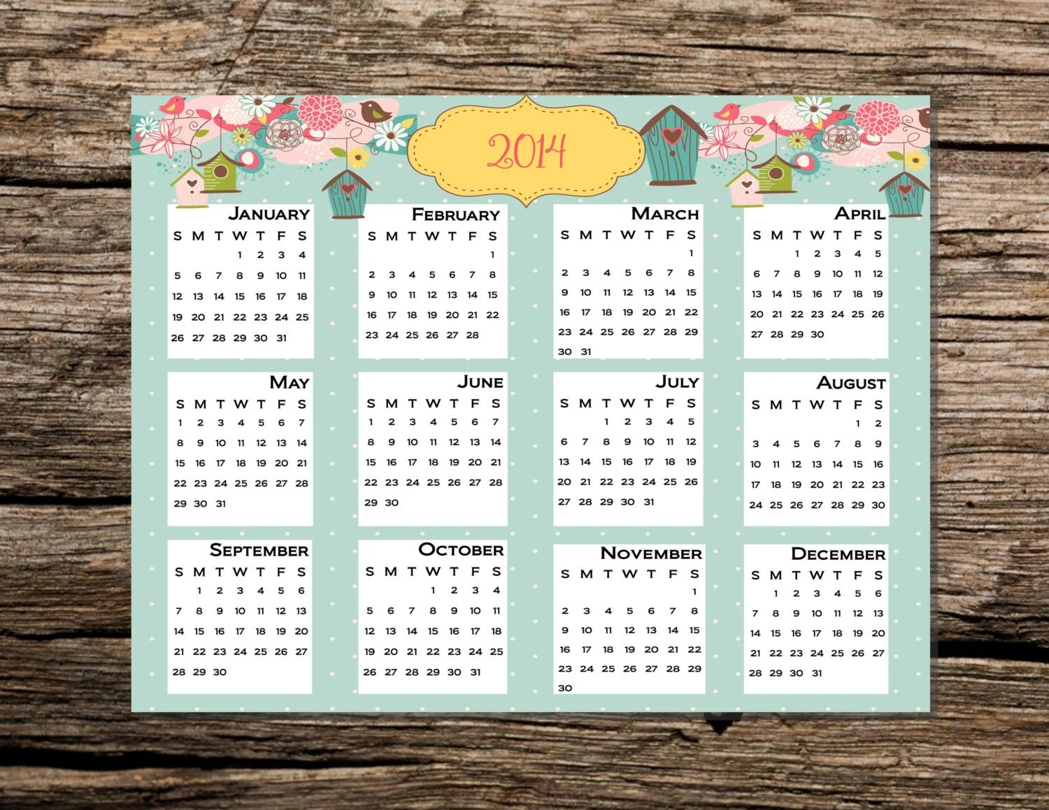 Year Whole Calendar 2006 One Page Printable