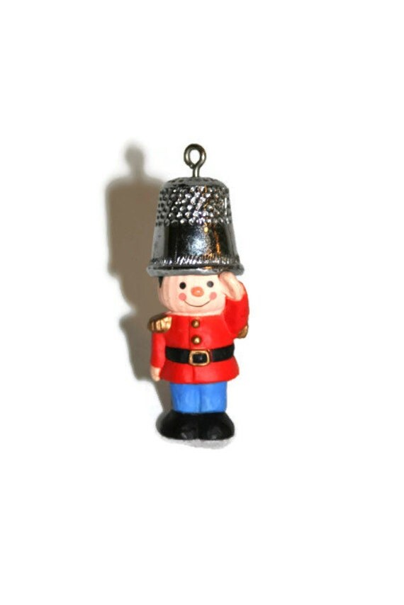 Hallmark Christmas Ornament 1979 Thimble Soldier By CocoRaes